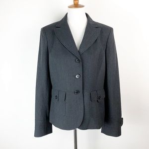 Loft Blazer Size 10 Large Charcoal Lined